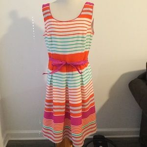 Tiana B sleeveless striped dress 10